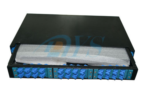 China 24 Core 19 Rack Mount Odf Optical Fiber , SC Slidable Jointing Fiber Cable supplier