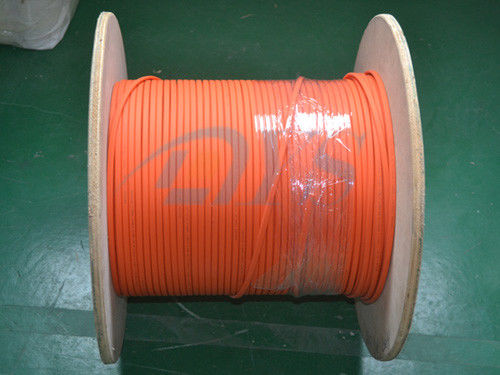 China Indoor 62.5 / 125um Fiber Optic Patch Cord , Orange Duplex Flat Fiber Optic Cable supplier