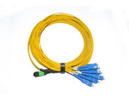8 Fiber Singlemode MPO/MTP to SC Ribbon Ruggedized cable