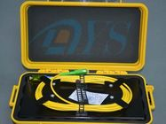 Black / Yellow OTDR Fiber Optic Odf Launch Cable Box with SC / APC Connector